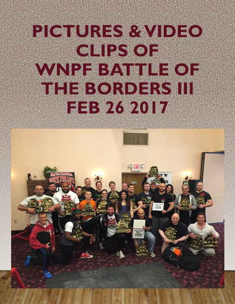 Battle of the Borders 2-26-17