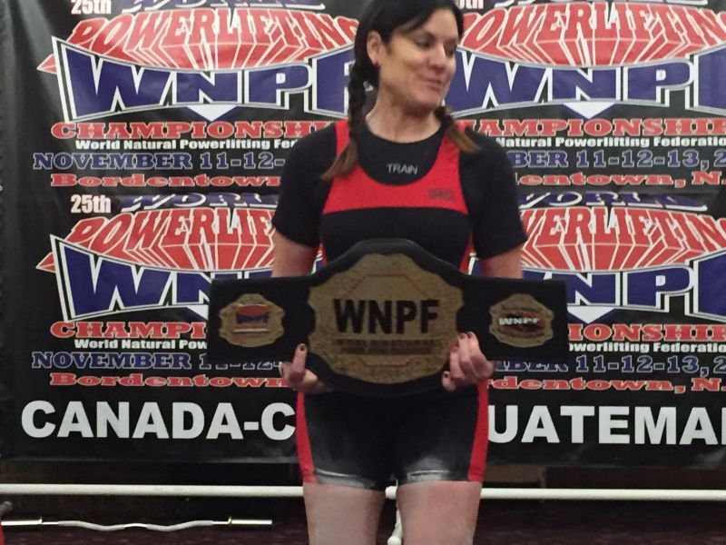 I compete in the sport of powerlifting and my biggest competitor is a younger woman!  She is 5 months younger than me.  She has darker hair, weighs two pounds more and is my height.  Ironically, she too, has 5 kids!
