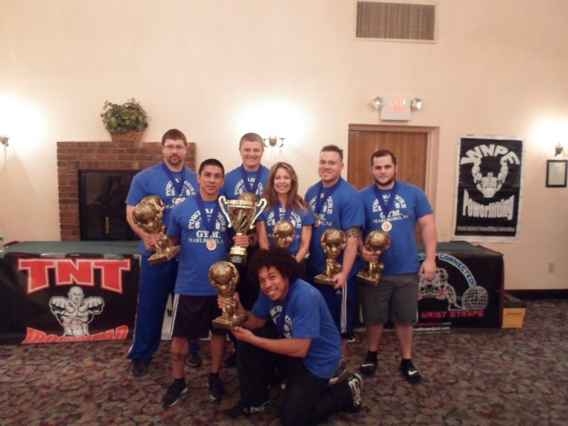 Another great WNPF  Powerlifting event put on by Troy Ford and the WNPF.  Congratulations to the lifters, judges, spotters and fans. It was a great event. (Pictured the winning team Powerhouse Gym of Marlboro new Jersey.